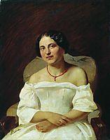 Portrait of a Woman in White, 1859, bronnikov