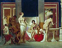 Private baths in Pompeii, 1868, bronnikov
