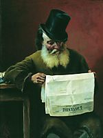 Reading the newspaper, 1880, bronnikov
