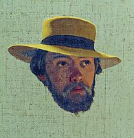Self-portrait, 1858, bronnikov