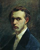 Self-portrait of the artist in youth, 1853, bronnikov