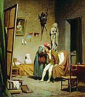 Sick artist, 1861, bronnikov