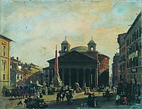 Square in Rome, bronnikov