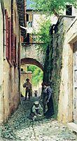 Street in Italy, 1890, bronnikov