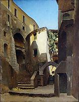 Street in Italy, c.1850, bronnikov