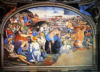 The Crossing of the Red Sea, 1555, bronzino