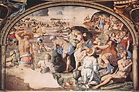 The Israelites crossing the Red Sea, c.1542, bronzino