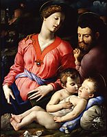 The Panciatichi Holy Family, 1540, bronzino
