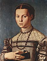Portrait of a girl with book, 1545, bronzino