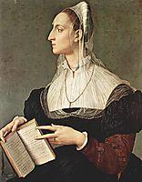 Portrait of Laura Battiferri, c.1552, bronzino