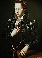 Portrait of Lucrezia de- Medici, bronzino