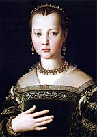 Portrait of Maria de- Medici, 1553, bronzino