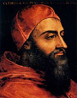 Portrait of Pope Clement VII, c.1566, bronzino