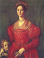 Portrait of young woman with her son, c.1545, bronzino