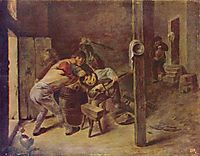 The brawl, c.1635, brouwer