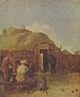 Drinkers in the yard, c.1631, brouwer