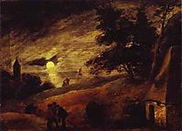 Dune Landscape by Moonlight, c.1636, brouwer