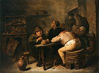 Interior with Smokers, 1632, brouwer