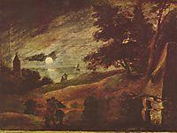 Moonlit landscape, c.1636, brouwer
