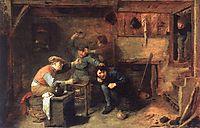 Peasants Fighting, c.1633, brouwer