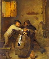 Peasants Quarrelling in an Interior, 1630, brouwer