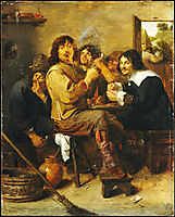 The Smokers, c.1636, brouwer