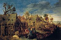 Village Scene with Men Drinking, c.1633, brouwer