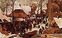Adoration of the Magi in the snow, 1567, bruegel