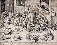 The Ass in the School, 1556, bruegel