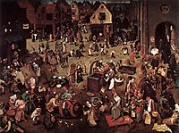 The Battle of Carnival and Lent, 1559, bruegel