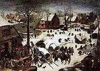 The Census at Bethlehem, 1566, bruegel