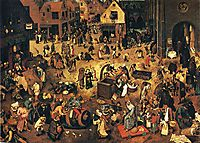 The Fight between Carnival and Lent, 1559, bruegel