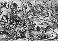 Gluttony, Gula, 1556-57, bruegel