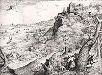 Hare hunting, 1560, bruegel