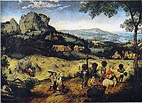 Haymaking, 1565, bruegel