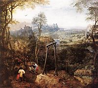 The Magpie on the gallows, 1568, bruegel