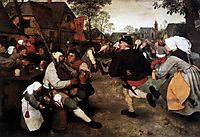 The peasant dance, 1567, bruegel