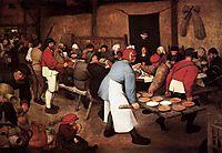 Peasant Wedding, 1567, bruegel