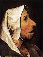 Portrait of an old woman, 1564, bruegel