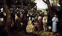 Preaching of Saint John the Baptist, 1566, bruegel