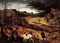 The return of the herd, November, 1565, bruegel