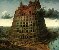 The small tower of Babel, 1564, bruegel