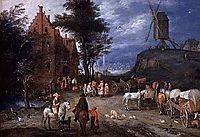 Villagestreet, bruegel