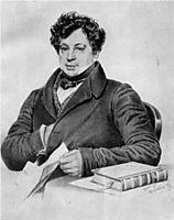 Aleksandr Turgenev, 1833, bryullov