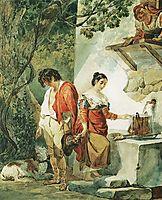 An Interrupted Date, 1827, bryullov