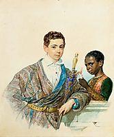 Anatole Demidov, 1829, bryullov