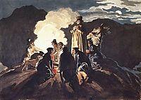 Bivouac on a Crater, Vesuvius, 1824, bryullov
