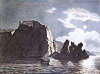 Cliffs and Moon at Night, 1824, bryullov