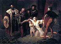 Death of Inessa de Castro, Morganatic Wife of Portuguese Infant Don Pedro, 1841, bryullov