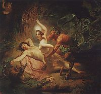 Diana, Endymion and Satyr, 1849, bryullov
